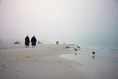 Coastal Birds Photograph - Early Morning Walk by Betsy Knapp