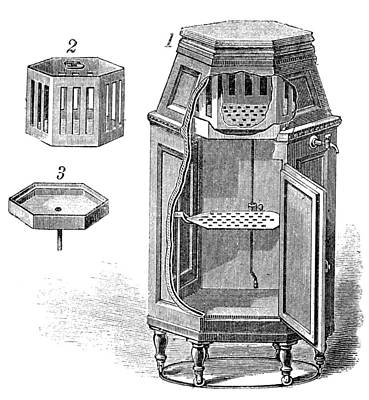 Early Refrigerator, 19th Century Print by