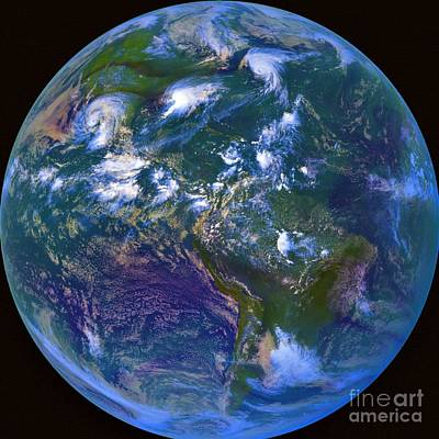 Noaa Photograph - Earth From Space by Padre Art