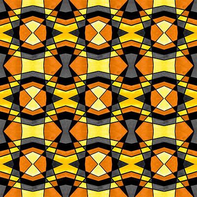 Tessellation Painting - Earth Tone Symmetry by Hakon Soreide