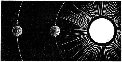 Venusian Photograph - Earth-venus Conjunction, 19th Century by