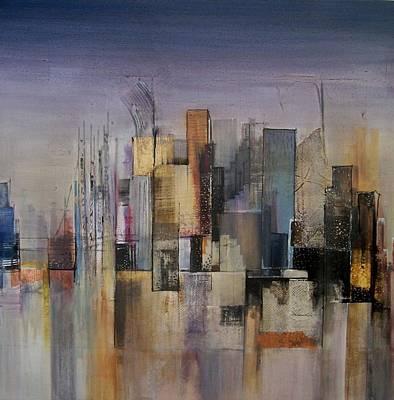 Ruins Mixed Media - East Bay by Asha Menghrajani