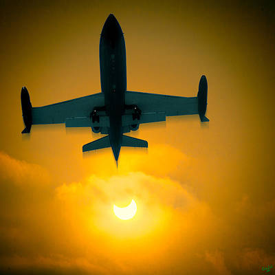 Airliners Digital Art - Eclipse Of The Sun by Chris Lord
