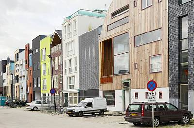 Eco-housing On Reclaimed Land, Amsterdam Print by Colin Cuthbert