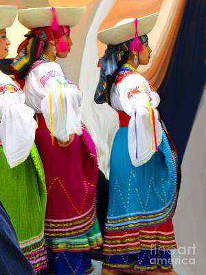 Troupe Photograph - Ecuadorian Dance Troupe by Al Bourassa