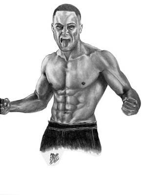 Alvarez Drawing - Eddie Alvarez - Mma by Audrey Snead