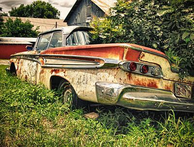 Edsel In The Weeds Print by Jon Herrera