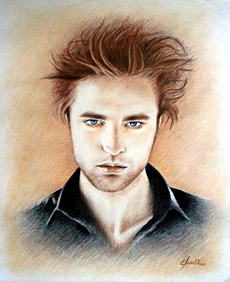 New Moon Drawing - Edward by Lena Day
