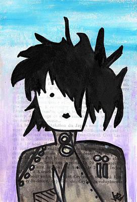 Johnny Depp Drawing - Edward Scissorhands by Jera Sky