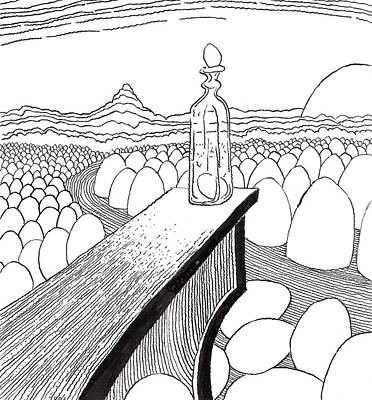 Egg Drawing 030310 Print by Phil Burns