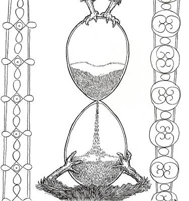 Hourglass Drawing - Egg Hourglass by Phil Burns