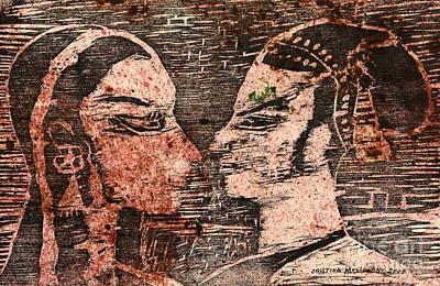 Egyptian Love  Print by Cristina Movileanu