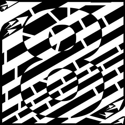 Frimer Drawing - Eight Maze by Yonatan Frimer Maze Artist
