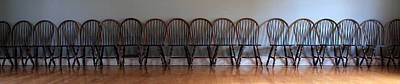 Eighteen Chairs Print by Andrew Fare