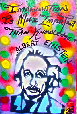 Moral Painting - Einstein Imagination by Tony B Conscious