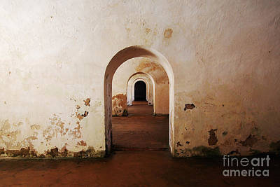 El Morro Fort Barracks Arched Doorways San Juan Puerto Rico Prints Print by Shawn O'Brien
