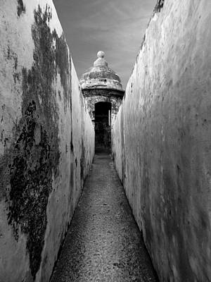 El Morro In Black And White Print by Sarah Lamoureux