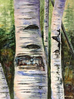 Kristine Painting - Elder Birch by Kristine Plum