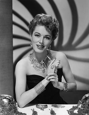 Eleanor Parker, Ca.late 1940s Print by Everett