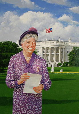 First Lady Mixed Media - Eleanor Everywhere by Cliff Spohn