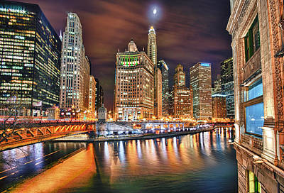 Magnificent Mile Photograph - Electric City by Joel Olives