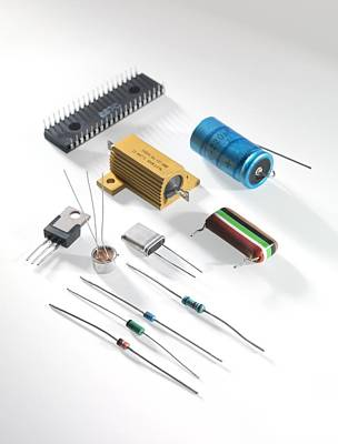 Electronic Components Print by Tek Image