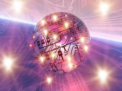 Electronic World, Artwork Print by Mehau Kulyk