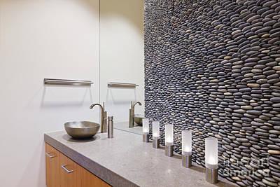 Elegant Modern Bathroom Print by Jeremy Woodhouse