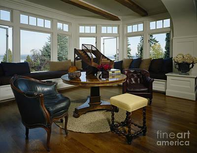 Elegant Sitting Room Print by Robert Pisano