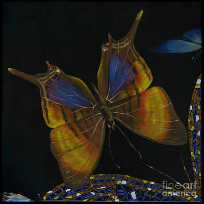 Painting - Elena Yakubovich - Butterfly 2x2 Top Left Corner by Elena Yakubovich
