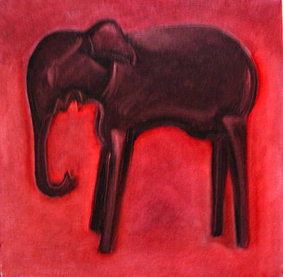 Oil Painting - Elephant by Suzanne Giuriati-Cerny