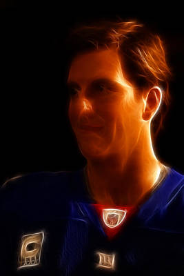 Eli Manning - New York Giants - Quarterback - Super Bowl Champion Print by Lee Dos Santos