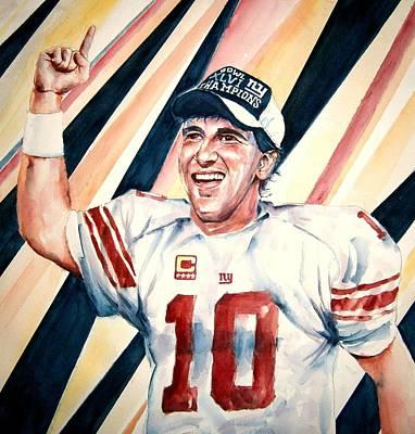 Eli Manning Original by Brian Degnon