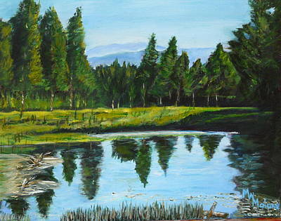 Malone Painting - Eliot Barker Pond by Mark Malone