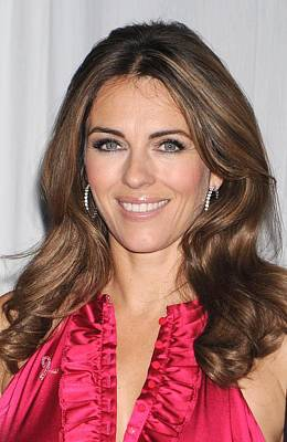 Elizabeth Hurley At In-store Appearance Print by Everett