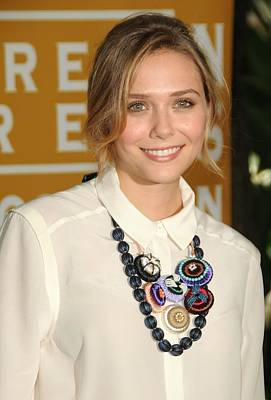 Elizabeth Olsen At Arrivals Print by Everett