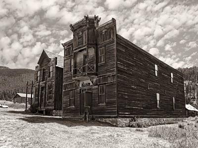 Elkhorn Ghost Town Public Halls 3 - Montana Print by Daniel Hagerman
