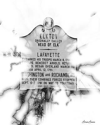 Elkton Head Of Elk  Print by Lorraine Louwerse