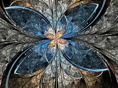 Apo Digital Art - Elliptic Butterfly by Pam Blackstone