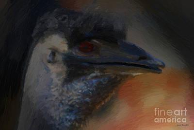 Ostrich Mixed Media - Elvis by Jerry L Barrett