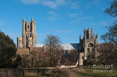 Ely Cathedral In City Of Ely Print by Andrew  Michael