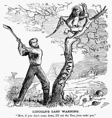 Abolition Photograph - Emancipation Cartoon, 1862 by Granger