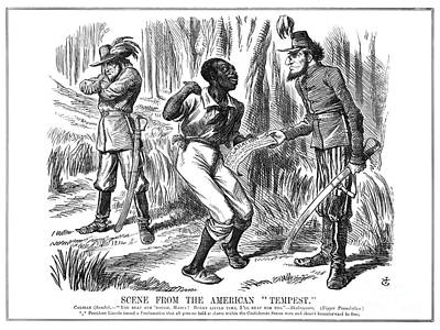 Emancipation Cartoon, 1863 Print by Granger
