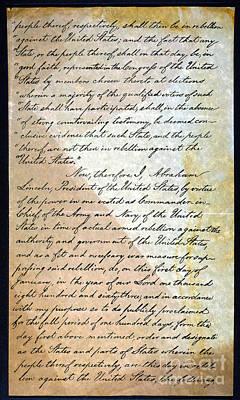 Abolition Photograph - Emancipation Proc., P. 2 by Granger
