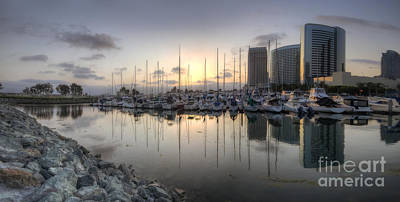 San Diego Embarcadero Park Photograph - Embarcadero Marina   by Yhun Suarez