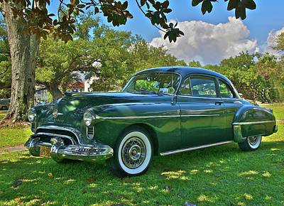 Emerald Oldsmobile Under The Magnolias Print by Mike  Capone