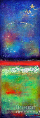 Abstract Night Sky Painting - Emergence by Johane Amirault