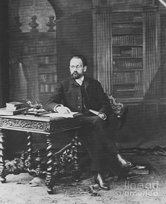Emile Zola 1840-1902 Novelist Print by Photo Researchers