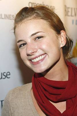 Emily Vancamp At Arrivals For Nhl Print by Everett