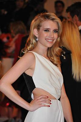 Emma Roberts At Arrivals For Alexander Print by Everett